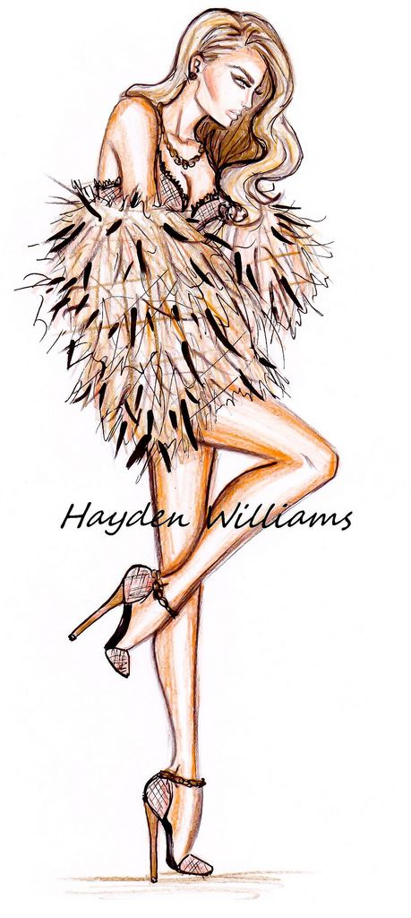 ‎'Blush' by Hayden Williams This is such an inspiration to me. I am a seamstress and I would LOVE to make this garment. She reminds me of a beautiful, sexy ostrich. LOL!!! The long legs and the feathers are everything!!!