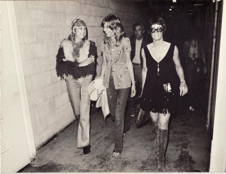 Here , Pattie Harrison , Chris O'Dell & her friend Eileen ...