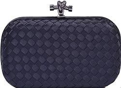 Knitted knot clutch evening bag