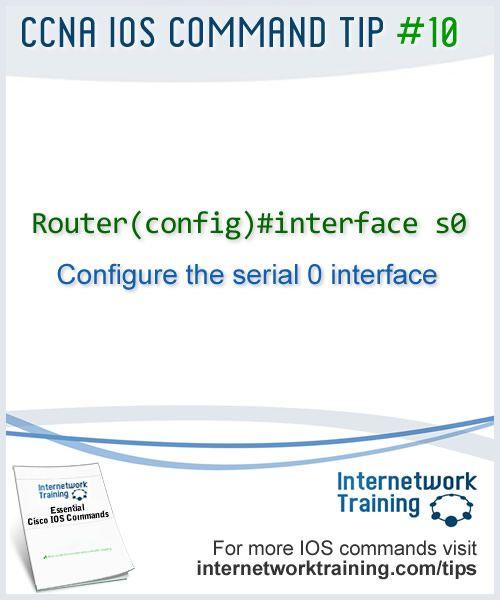 CCNA tip #10 - IOS Command to configure a Cisco router interface