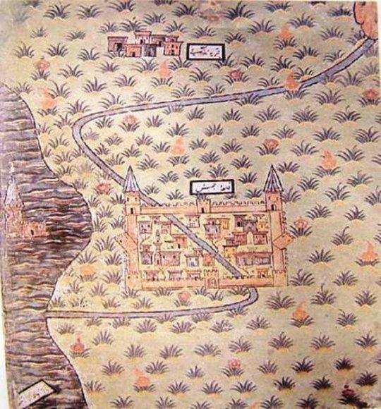 Matrakçı Nasuh-Erciş Kalesi-Beyan-i Menazil-i Sefer-i Irakeyn-i Sultan Suleyman, written circa 1537. (Istanbul University Library)