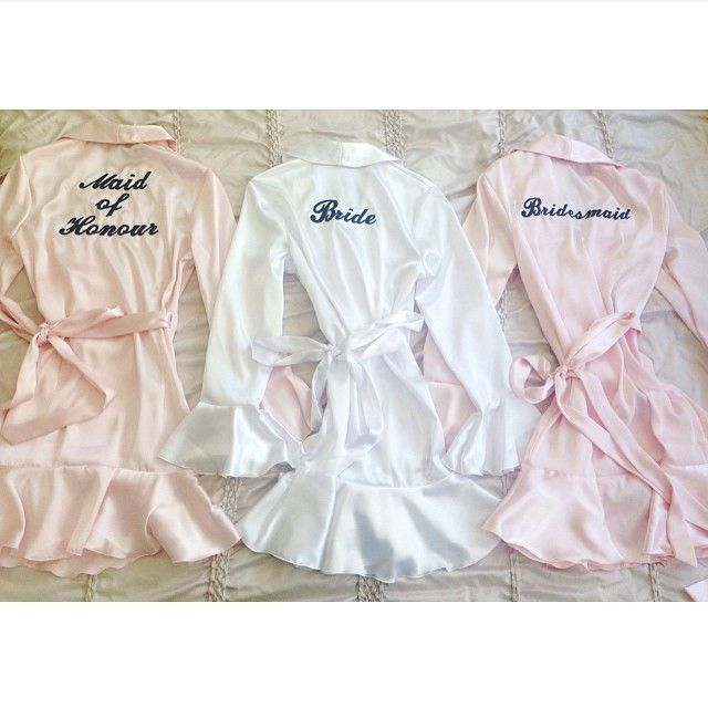 Cherish Her Kiss     Bridal party robes - the perfect thing to wear while in hair  makeup on your wedding day!    Bride, Bridesmaid, Maid of Honour, Mother of the Bride     To order yours now: https://www.facebook.com/youngladybridalwear