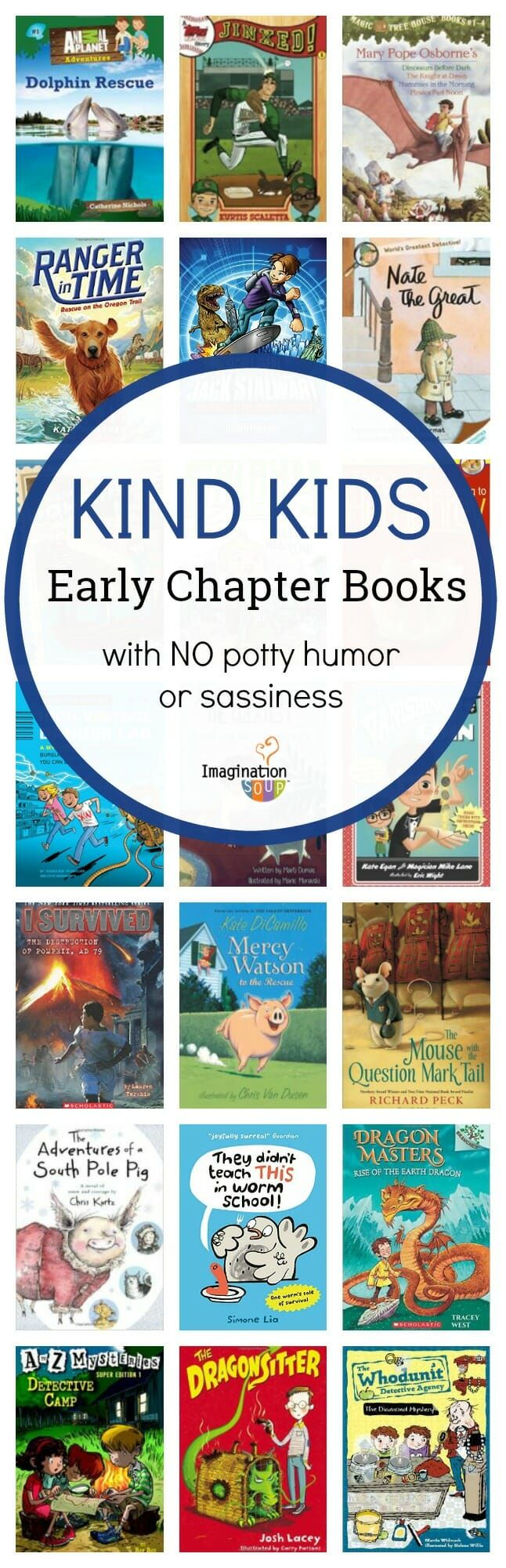 A Nice Kids Early Chapter Book List for Boys (Without Potty Humor or Rudeness)