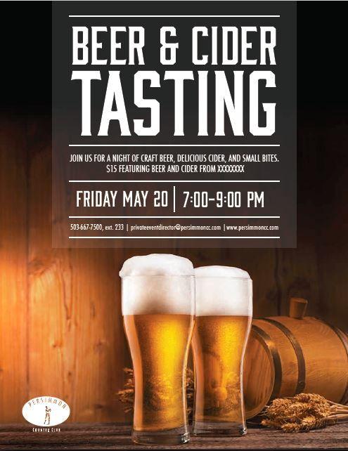 Craft Beer Tasting Poster