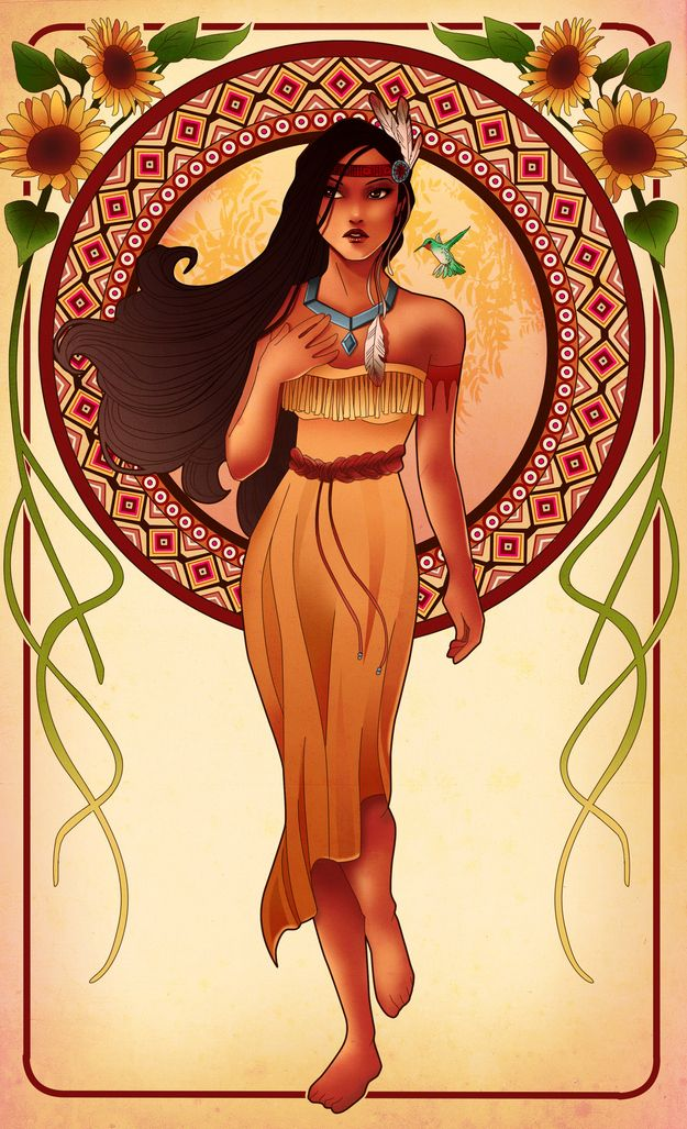 These Mucha-Inspired Disney Princesses Are Stunning (click for the whole collection)