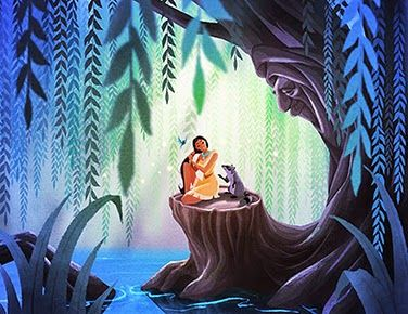 Wise Grandmother Willow, courageous and spirited Pocahontas, and loyal and fun little Meeko.