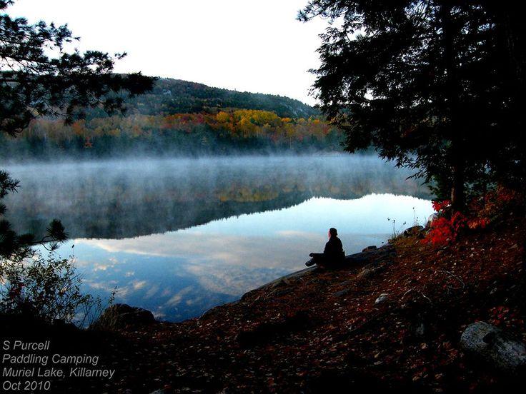 Me meditating at Muriel Lake