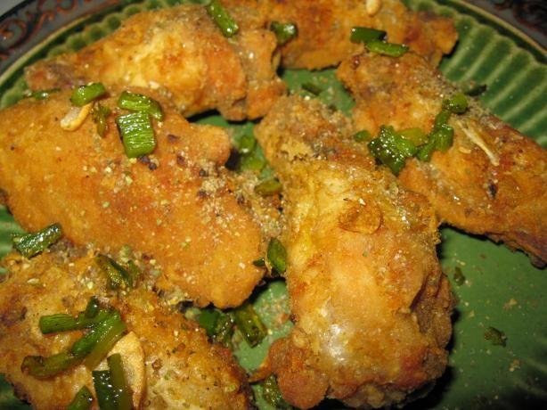 Deep fried salt and pepper chicken