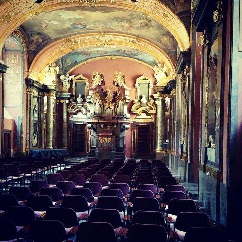 Prague,  Clementinum hall of mirrors.