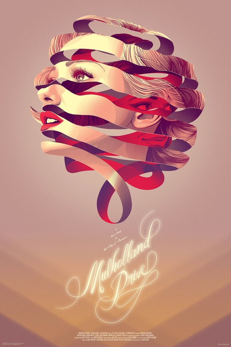 Mondo Poster Premiere: Kevin Tong's Gorgeous 'Mulholland Drive'