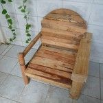 DIY Rustic Cable Spool and Pallet Chair