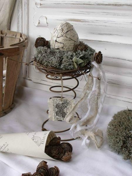 ressort sommier pr sentoir nid un fil de fer pinterest amour tags et rubans. Black Bedroom Furniture Sets. Home Design Ideas