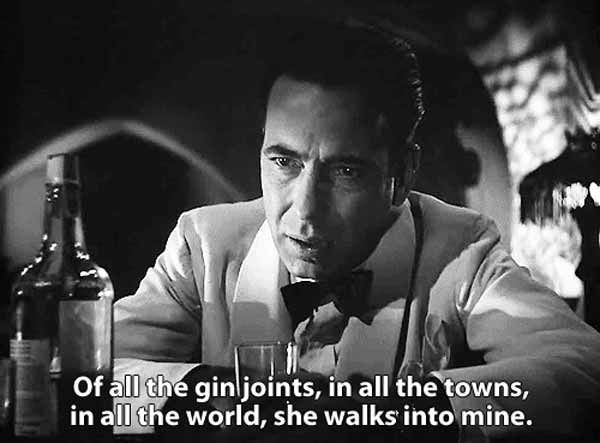 We've compiled a collection of what I believe to be the best and most famous Casablanca quotes. Love is a complex thing.