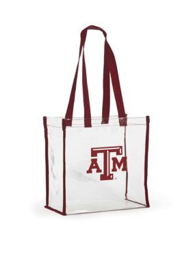 Desden Texas A&M University Clear Stadium Tote - Dark Red - One Size
