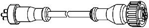 WABCO Anschlusskabel 894 601 132 2 > Kostal (Kabel) auf DIN Bajonett (Ventil)