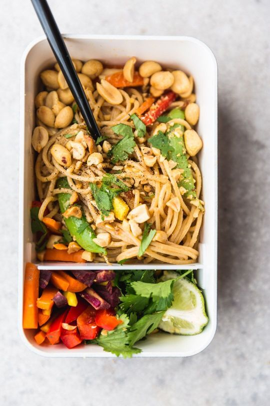 Chilled Peanut Noodles From Vegetarian Heartland by Shelly Westerhausen (Chronicle Books, 2017). These slightly spicy noodles are the perfect portable meal since they can be served at room temperature...
