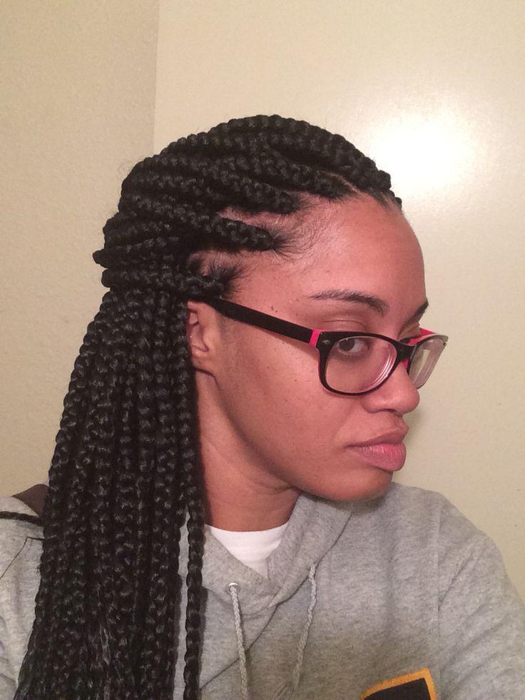 Medium sized box braids #protectivestyles #braids