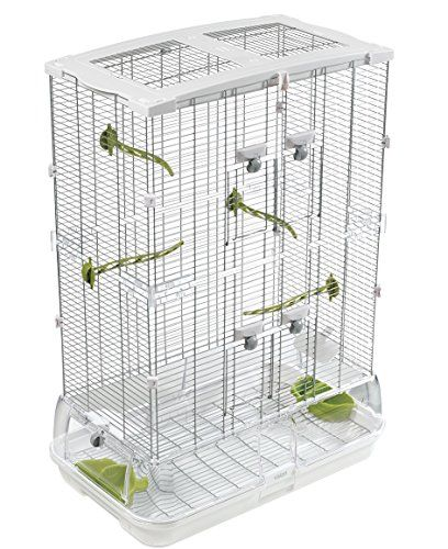 Vision Bird Cage Model M02 – Medium  Small wire bird cage for budgies, canaries, lovebirds and finchesCage detaches from base for fast, easy cleaningDebris guard helps keep waste inside cage  http://dailydealfeeds.com/shop/vision-bird-cage-model-m02-medium/