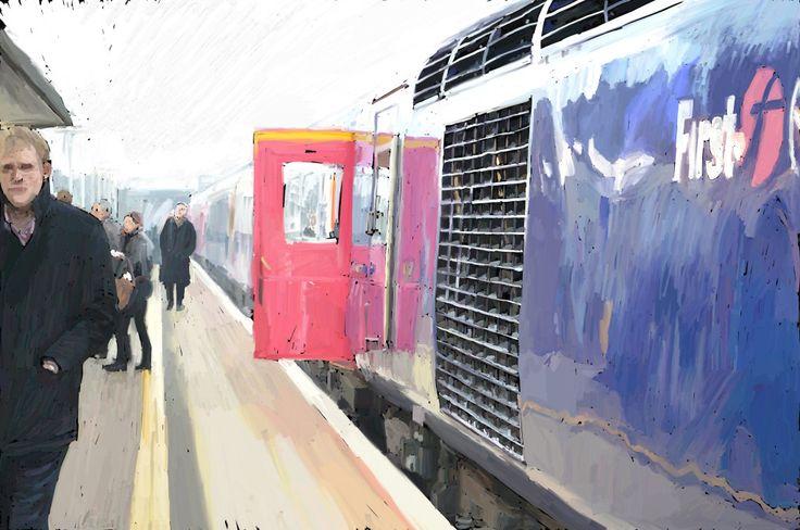 Platform - digital painting