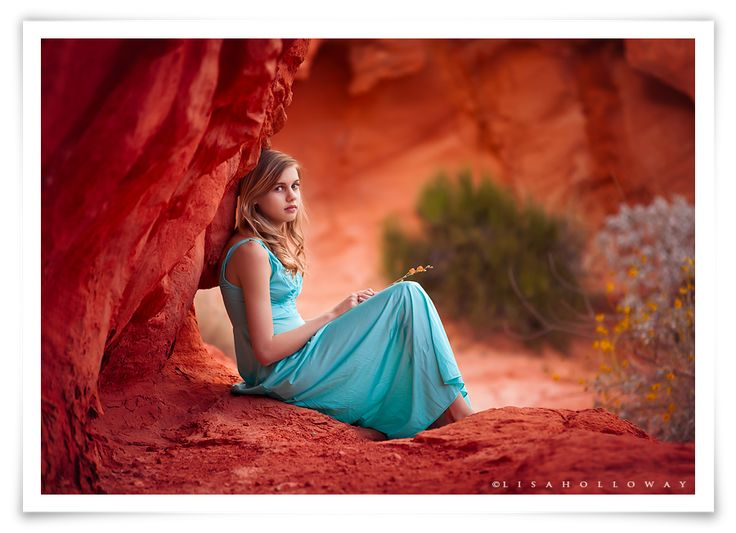 Lisa Holloway of LJHolloway Photography photographs a gorgeous girl outdoors in the Valley of Fire, just outside of Las Vegas.