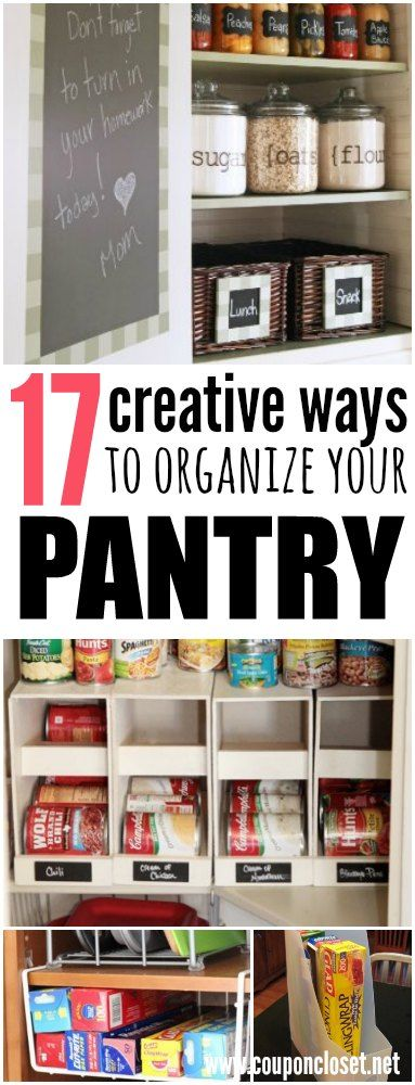 How to Organize Your Pantry - 17 creative ways to get your pantry or stockpile organized.