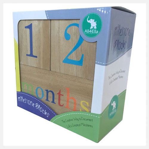 All4Ella | Milestone Blocks | Unisex I at little green footprints