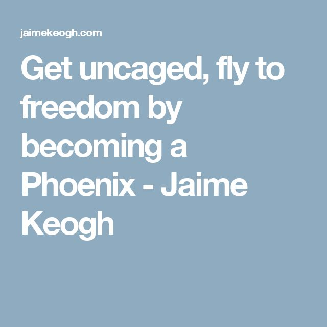 Get uncaged, fly to freedom by becoming a Phoenix - Jaime Keogh
