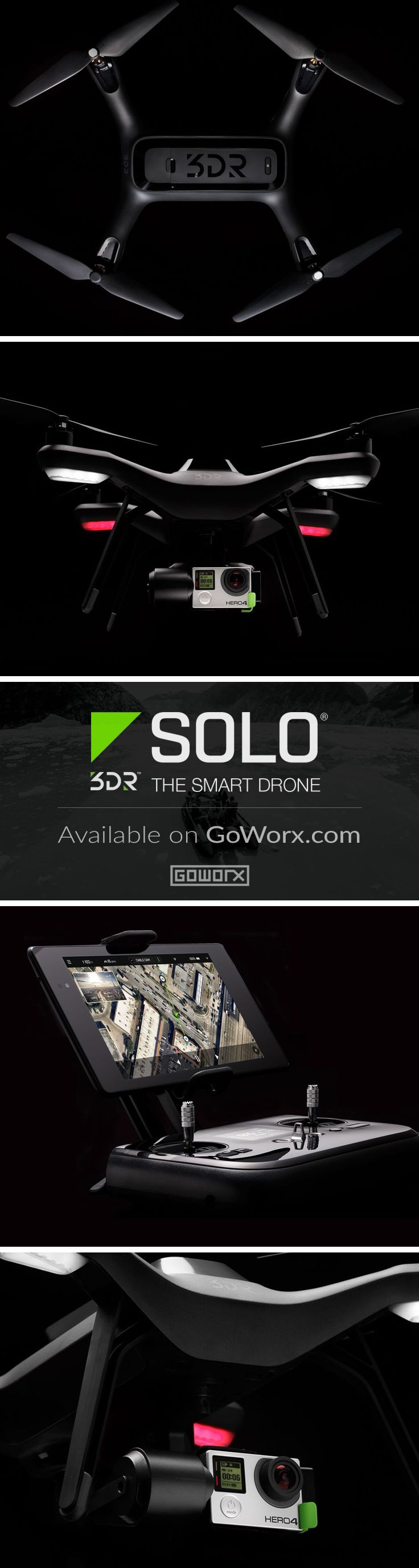 [Next Level] Take your GoPro HERO camera to the skies and capture the world like never before with this smart, powerful drone and 3-axis stabilizing gimbal. Repin if you geek out for this BEAST machine like we do! Available now at GoWorx.com