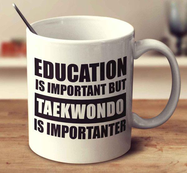 Education Is Important But Taekwondo Is Importanter Mug