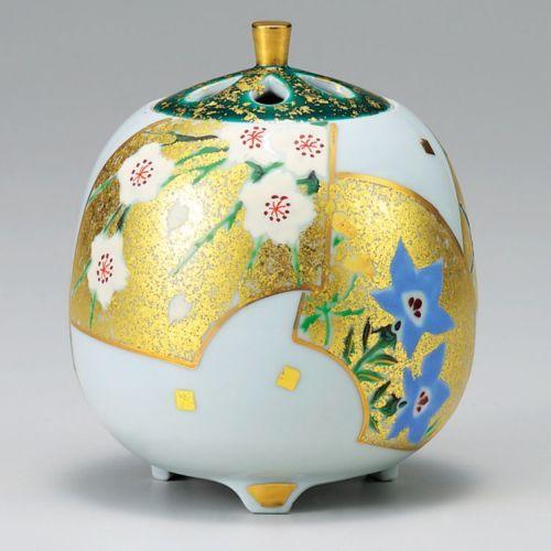 Kutani Porcelain Japanese Incense Burner Kinsaiougimen Soka H13CM | eBay