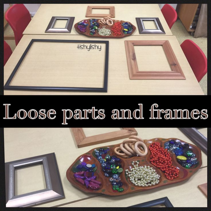 Loose parts for transient art. Frames to work into.