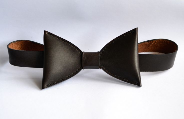 "AVO ""Dark Serie Leather Bow Tie"" https://www.facebook.com/avo.leather.design"
