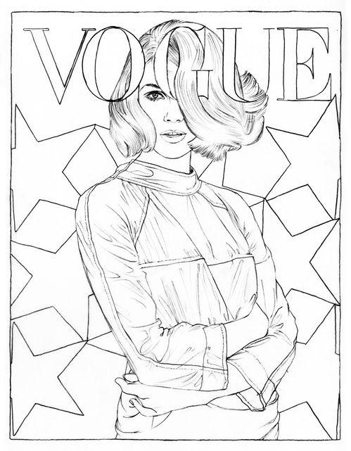 Peter Knapp pour Vogue Paris - illustration de Cédric Rivrain