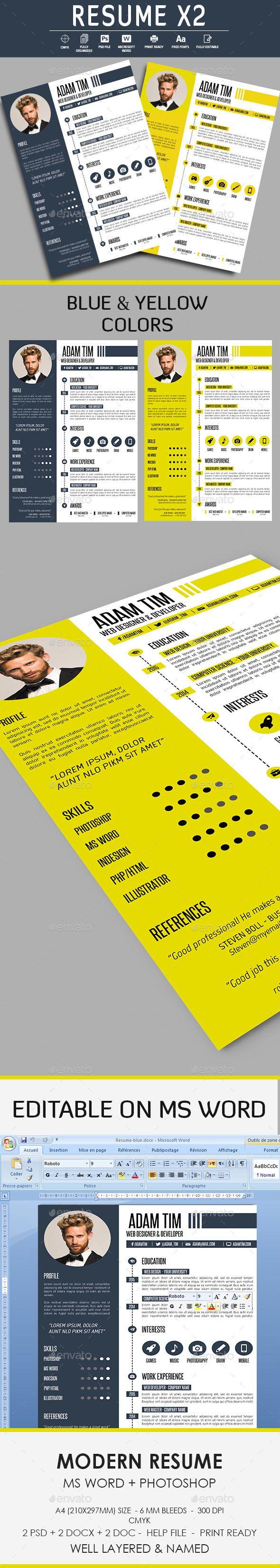 Resume CV Template #design Download: http://graphicriver.net/item/resume-cv/12328582?ref=ksioks