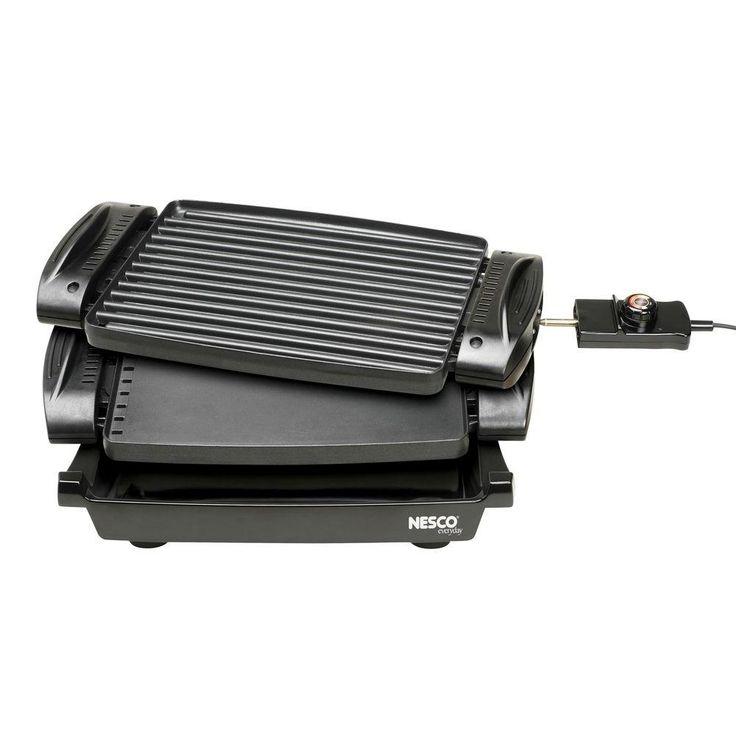Reversible Electric Griddle, Black