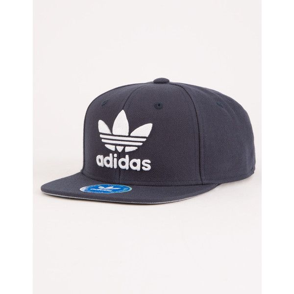 Adidas Originals Trefoil Boys Snapback Hat ($24) ❤ liked on Polyvore featuring accessories, hats, adjustable snapback, snap back hats, adidas snapback, adidas and embroidered snapback hats