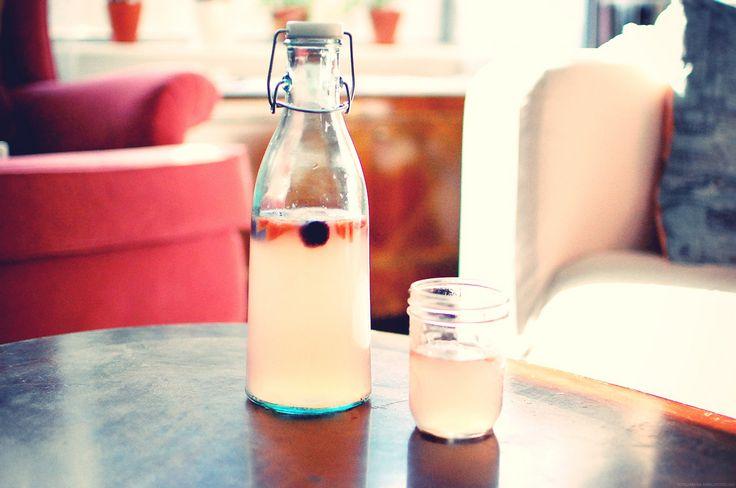 lemonade- honey, water, lemon juice