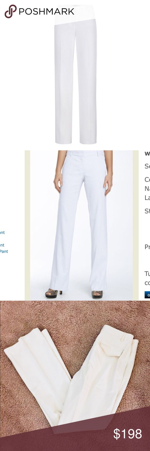 ❗️Neiman Marcus Etcetera Ivory Pants MSRP $435! ❗️Neiman Marcus Etcetera Ivory Pants. Size 4, great condition retails $435! Cover photos for styling. Feel free to make an offer! Selling to the first good offer I receive. Discounts on bundles. Large Cleanout Sale! Neiman Marcus Pants