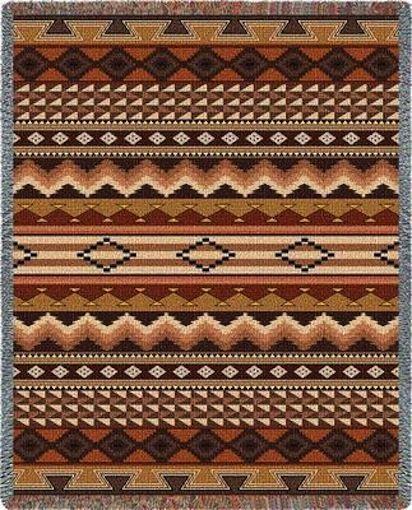 "Native American Indian Navajo Pattern Throw Blanket Afghan USA Woven 70""X54""   eBay"