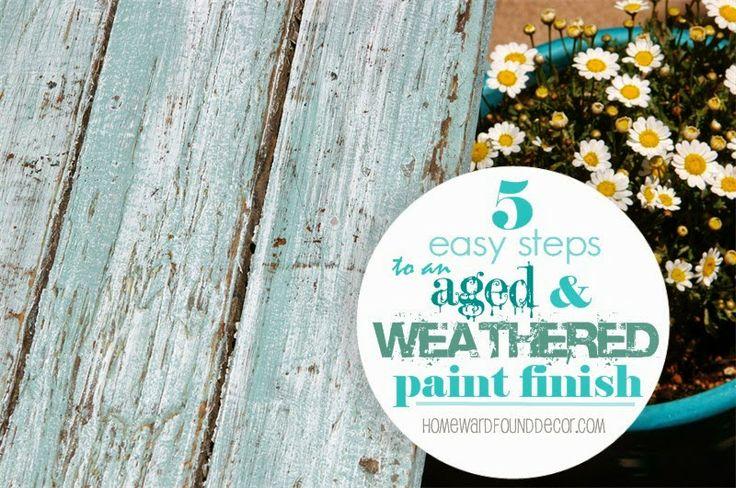 HOMEWARDfound Decor: weathered paint tutorial