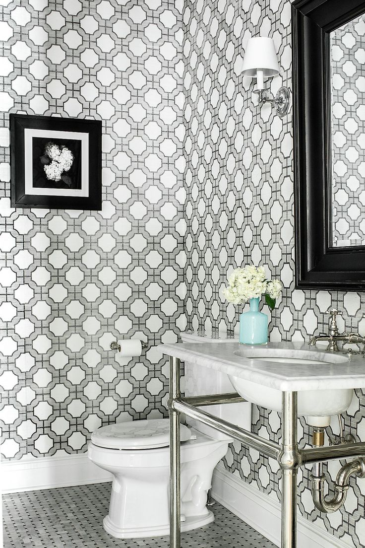 196 best Wallpaper images on Pinterest | Bathroom ideas, Flat design ...