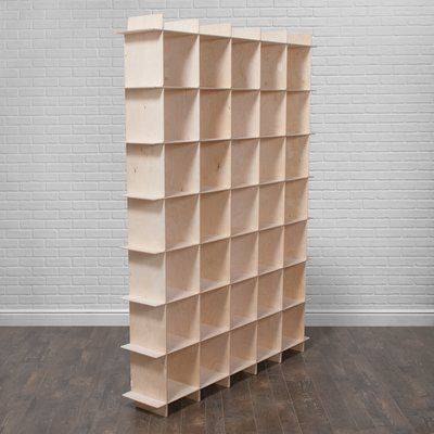 """Sprout Kids 35 Storage 79.25"""" Cube Unit Finish: Natural"""