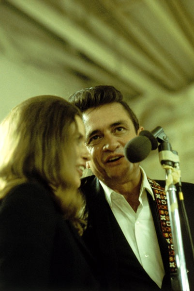 June Carter Cash & Johnny Cash, Folsom Prison, 1968 / Cool Lady indeed...Not just any chick would rock a prison with you...