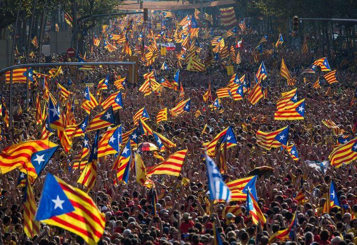 11 setembre 2014. La Diada. Barcelona, Catalunya.