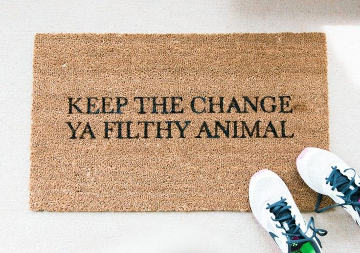 Get home decor inspiration from these funny doormats.