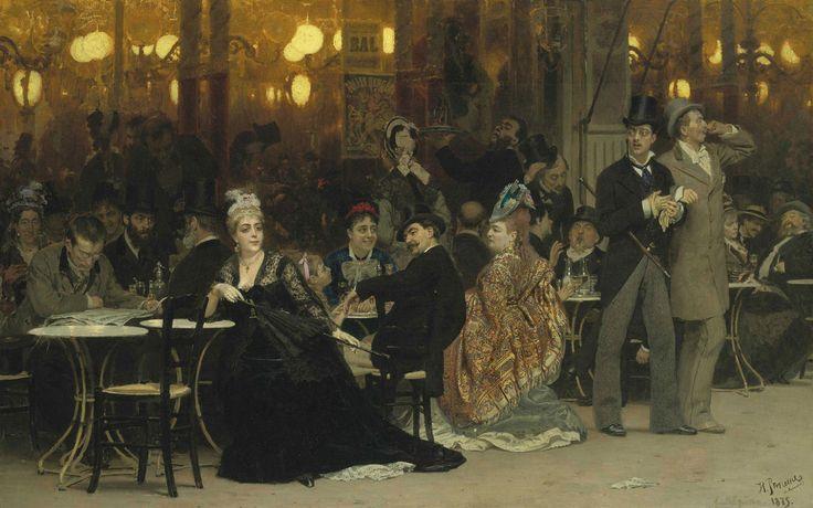 Ilya Repin | A Parisian Cafe / Un caffè Parigino, 1875