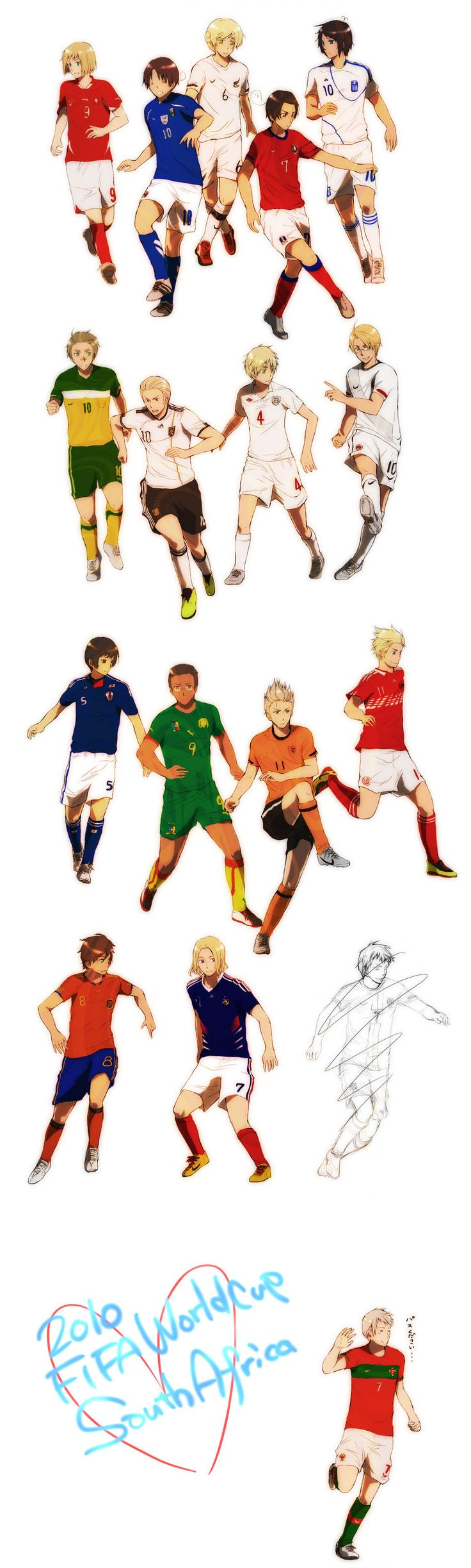 Hetalia omg it makes it so much easier to recognize them in not a soccer person so I didn't know when I was like a similar uniform