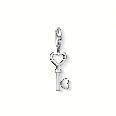 "THOMAS SABO Charm pendant ""Key"" with lobster clasp, 925er Sterling silver, Size: 1.9 cm"