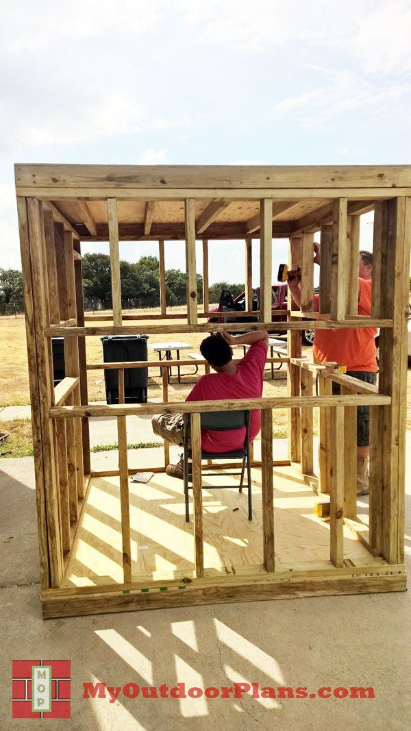 DIY Deer Blind | MyOutdoorPlans | Free Woodworking Plans and Projects, DIY Shed, Wooden Playhouse, Pergola, Bbq