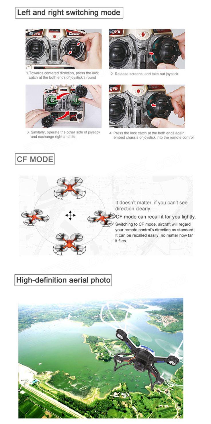 JJRC H12C 2.4GHz UFO w/ 6-Axis Gyro/Headless Mode/5.0MP Camera - White - Free Shipping - DealExtreme